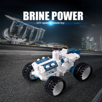 Wholesale Toy Cars Engine - DIY Space Vehicle Car Kit Salt water Engine Fueled Toy Bine Power Robot Blocks Science Model Educational Toys Gift for children
