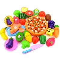 bebek plastik meyveler toptan satış-24 Adet Plastik Meyve Sebze Mutfak Kesme Oyuncak, Kesme Erken Gelişim ve Eğitim Oyuncak Bebek Çocuk Çocuklar için