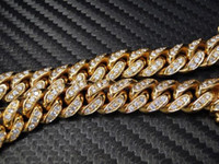Wholesale 14k Solid Gold Diamond - Custom Diamond Miami Cuban Link Bracelet Men's 14K Yellow Gold 10MM Solid Curb