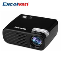 Wholesale Vga Panel - Wholesale- Excelvan EHD11 2600 Lumens LED Projector Multimedia Home Cinema Proyector 800*480 USB AV HDMI ATV VGA TFT LCD Panel Beamer