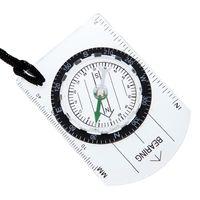 grundplattenkompasse großhandel-Mini Militär Kompass Karte Skala Lineal Outdoor Camping Wandern Radfahren Kompass Geologische Grundplatte Kompass mit Scout Lanyard