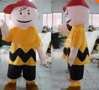 Wholesale Characters Cartoon Mascot Costumes - 2017 Hot new cartoon character charlie brown mascot costume fancy dress costumes adult costume