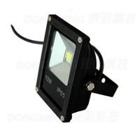 Wholesale Led Reflector 12v - Wholesale- RGB LED Floodlights 10W black cover DC 12V IP65 Outdoor LED Flood Light reflector Landscape