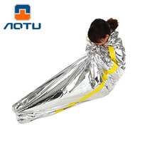 Wholesale Auto Weather - AUTO Outdoor Emergency First Aid Sleeping Bag Anti Radiation Heat Insulation Silver Saving Life 118