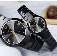 Wholesale Glasses Career - Simple Quartz Watch Men Business Alloy Steel Strap Mens Watches Top Brand Luxury Waterproof Date Business Career Wristwatch Man HOT