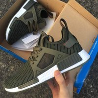 Wholesale Mens Stripe Soccer - New 2017 Men and Women NMD XR1 Olive Green Stripe Wheat Color Mens Running Shoes Ultra Sneakers Size 36-45