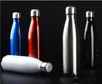 Wholesale Wholesale Sport Water Bottles - New stainless steel sports water bottle Cycling Camping Bicycle Sports stainless steel vacuum insulation Cup 500ml Great b535