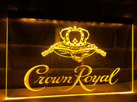 Wholesale Crown Derby - LE104b- Crown Royal Derby Whiskey NR beer Bar LED Light Sign