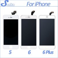 Wholesale Iphone Screen Replacement Metal - SANKA AAA For Apple iPhone 5S 5C 5 6 6Plus LCD Display Touch Screen Full Set Digitizer Replacement Assembly LCD Phone Parts
