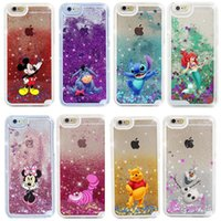 Wholesale Alice Iphone - Cute cartoon Alice Snowball Fairy Tale Shining Glitter Star Liquid Quicksand Phone Back Case cover For Iphone 5 6s 6s plus 7 7plus