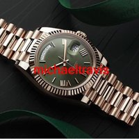 Wholesale Mens Golden Automatic - 2017 Luxury Brand New Watch Men Day Date DayDate Sapphire Glass Green dial 18k golden Mens Watches Automatic Wristwatch Stainless Steel