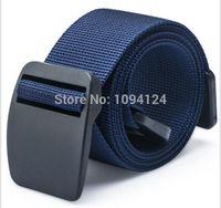 Wholesale Nylon Belts Plastic Buckles - 110-125cm Length Unisex outdoor Sports Quick Dry Nylon Plastic Buckle Belt Waist anti allergy Super Thin Men jeans Belt