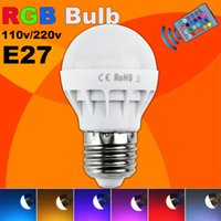 Wholesale Energy Saving Ir - Low price RGB LED Lamp E27 5W LED Bulb RGB Soptlight 85-265V Energy Saving 16 Color Change LED Lampara With IR Remote Brand NEW