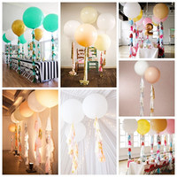 Wholesale Tissue Garlands - 1PC 36 Inch Huge Latex Ballons or Flesh Clea Tissue Garland Wedding Decoration Super Big Balloon For Party,Birthday,Carnival wedding balloon
