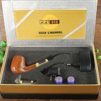 Wholesale Cool E Pipes - Wholesale-E pipe 618 vaporizer vape pen starter kit cool design wooden style fast shipping electronic cigarette