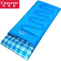 Wholesale Creeper Bags - Wholesale- Creeper outdoor Breathable waterproof ultralight thick warm winter cotton envelope camping sleeping bag