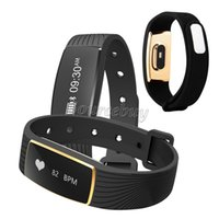 Wholesale Android Cell Phones Waterproof - New F2 Bluetooth waterproof IP67 Smart Bracelet Heart Rate Monitor Smart Wristbands Fitness Tracker Smart Band for Android iOS cell phone