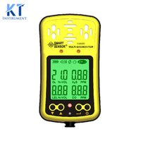 oxygen analyzer sensor - Smart Sensor AS8900 Handheld Gas Detector Oxygen O2 Hydrothion H2S Carbon Monoxide CO Combustible Gas Analyzer in