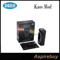 Wholesale E Cig Led Display - Sigelei Kaos Spectrum Box Mod 230W Fit 2*18650 Battery 0.96TFT Big Oled Display Vape Mod 6 Changeable LED Color Bar E Cig Mod 100% Original