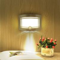 Wholesale Mini Human Sensor - LED Light Human Body Sensor Light Sensor Body Induction Light Control Smart Night Mini Emergency Wall Lamp for Bedroom
