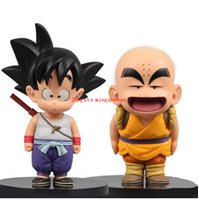 Wholesale Dragon Puppets - New hot Sale Set  2 pieces set Anime Dragon Ball Z Action Figure PVC Son Goku Kuririn juguetes Anime puppets Figure Toys for children