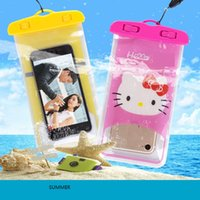 PVC sports pictures free - Free shiping DHL cartoon picture Waterproof bag PVC Protective Mobile Phone Bag Pouch case For Diving Swimming Sports