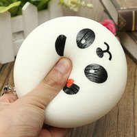 Wholesale New Squishies - 2017 New 10CM Cute panda Squishy Buns Bread Charms, Squishies Cell Phone Straps, Wholesale Free shipping