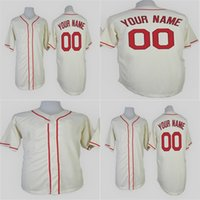 Wholesale Anti Clock - Mens Womens Kid Toddlers Milwaukee Custom Cream 1948 Turn Back The Clock Stitched Personalized Baseball Jerseys With Any Name Any Numbers