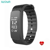 Wholesale i6 wristband for sale – best IWOWN I6 HR Smartband Heart Rate I6 PRO Wristband Waterproof Smart Bracelet iwown Plus Fitness Tracker Support for Andriod IOS