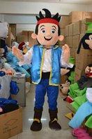 Wholesale Mascot Costumes Jake - High quality Custom made High quality New Jake mascot Neverland narrowly Pirate fancy adult size cartoon mascot costume