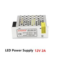 Wholesale Dc12v Adaptor - Power Supply 12V 2A 24W Led Transformer Adaptor From AC 110V 220V To DC12V Non Waterproof Led Power Driver for LED Strip