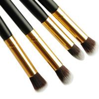 ingrosso le ombre di occhio delle signore-4Pc / Set Women Ladies Girls Pro Ombretto Ombretto Fondotinta Blending Face Blushes Brushes Set Makeup Cosmetic Tool