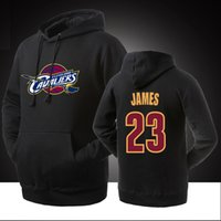 Wholesale Thick Sweater Jackets - New Hot Sale Hoodies Jacket Hooded Pullover Basketball Cleveland James Cavaliers Hip Hop Streetwear Pure Cotton Sports Sweater