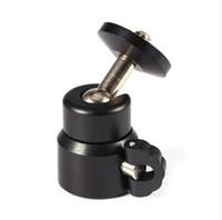 """Wholesale Mini Dolly Camera - Black Color Metal Mini Ball Head for 1 4"""" Screw Mount Tripod for Dolly DSLR DC Camera DV Camera Accessories"""