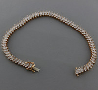 "Wholesale 9ct Gold - British Hallmarked 9ct Gold Diamond 1ct Tennis Bracelet 7"" RRP £950 BAR20"