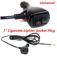 Wholesale Headlight Connector - 12V 10 ft 3 Wires Cigarette Cigar Lighter Socket Plug Connector & Extension Wire With On Off Toggle Switch & Changing Pattern Switch