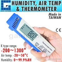 Wholesale Rh Types - M0198855 Digital K type Thermocouple Thermometer with Ambient Temperature and Relative Humidity (RH) Made in Taiwan