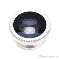 Wholesale Macro Sets - with retail package box 1:1 Good Quality Lens photo Clip Kit Set Fisheye Lens Wide Angle Macro Cell Phone Accessories
