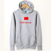 çin sweatshirtleri toptan satış-Çin bayrağı hoodies Büyük ülke ter gömlekleri Ülke polar giyim Kazak tişörtü Açık spor ceket Fırçalı ceketler