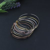 Wholesale Accessories Jewelry Bronze - Wholesale-30pcs Lot Alloy Alex Style with and Top Any Bronze Black Gold Silver Color Bracelet Vintage Bangle DIY Jewelry Accessories