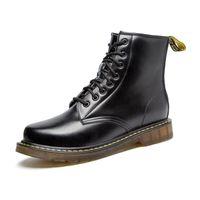 Wholesale Dr B - Wholesale- 2016 DR Men women Shoes 100% Genuine Leather Winter Warm fur Martin Boots women Men's Boots Ankle Botas Brand Motorcycle Boot