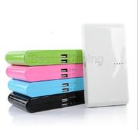 Wholesale External Battery For Smart Phone - New Portable Power Banks Powerbank 20000 mah Double USB External Backup Battery Charger for Smart Phone iPhone 6 6PLus Samsung S6 edge plus