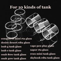 Wholesale Desert Glasses - Conqueror mini desire desert isub g tank isub-s osub 80w 40w vape pen plus sapor rta reux mini skyhook rdta pyrex replacement glass tube