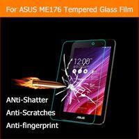 "защитная пленка для памятки оптовых-Wholesale-  tempered glass film For ASUS MeMO Pad 7 ME176CX 7.0""tablet pc Anti-shatter LCD Screen Protector Film with"