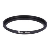 Wholesale Step Up Ring 55mm - Wholesale- Lens Adapter Ring 52-55mm 52mm to 55mm Step up Metal Filter Camera Lens Adapter Ring For 52-55 Camera DSLR Accessories