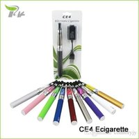 Wholesale Ego Stater Kits Electronic Cigarette - 10PCS lot Best Electronic E Cigarette Ego CE4 Blister Stater Kit E-cig E-cigarette Ecig Kit Vape Pen Ego E Cigarette Electronic