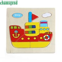 Wholesale Helicopter Wooden Puzzle - CHAMSGEND Modern Non-toxic Ship Helicopter Truck Plane Rooter Baby Wooden Puzzle Educational Developmental Training Toy Sep28