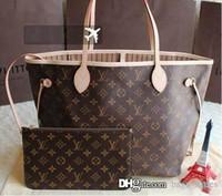 Wholesale Stone Cell Phones - Fashion Women Bag Shoulder Bags L Brand V Designer Lous Never Full Mono Lockit gram Leather Handbags Vutton Women 6s3 Tote Bags