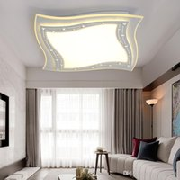10sq.m ~ Under square d switch - New Arrival Square LED Chandelier Light Modern Ceiling for Living room Bedroom LED Lamparas d Living room Bedroom Kitchen LED Luminarie Lamp