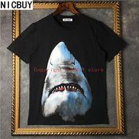 Wholesale Shirt 3d Shark - 2017 brand tag clothing men short sleeve 3D animal shark print funny t shirt cotton tee tops women Camisa Masculina